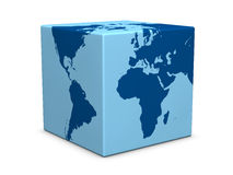 World cube Royalty Free Stock Photos