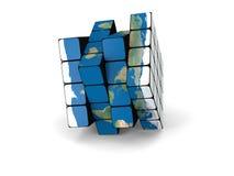 World cube Royalty Free Stock Image