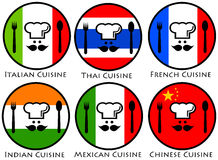 World cuisine Royalty Free Stock Image
