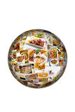 World Cuisine Collage Globe Royalty Free Stock Images