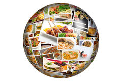 World Cuisine Collage Globe Royalty Free Stock Photography