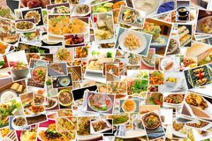 World Cuisine Collage Stock Images