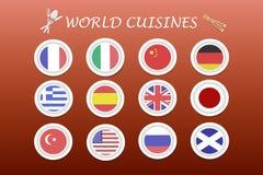 World cuisines vector Stock Photography