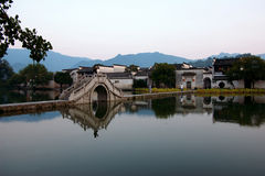 The world cultural heritage hong cun. 1999 years of the UNESCO world heritage committee of 24, yixian county in anhui province XiDi, hongcun these two place with Royalty Free Stock Images