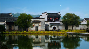 The world cultural heritage hong cun. 1999 years of the UNESCO world heritage committee of 24, yixian county in anhui province XiDi, hongcun these two place with Royalty Free Stock Photography