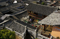 World Cultural Heritage Lijiang houses Stock Photos