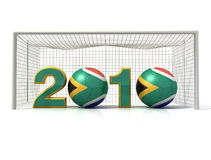 World cup 2010. Conceptual image of south africa soccer world cup -rendering Stock Photo