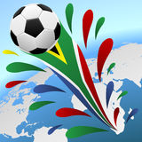 World cup 2010 background. Soccer world cup 2010 South Africa background stock illustration
