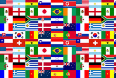 World Cup 2010 Flag Team Stock Image