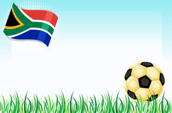 World Cup 2010 South Africa. South Africa 2010 - Football world cup. With golden soccer ball over green grass. With room for your text. Vector illustration saved royalty free illustration
