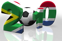 World Cup 2010 South Africa Flag. Royalty free stock image of a XXXL Large 3D render of the 2010, in the colours of the South African Flag, isolated on white Stock Photos