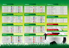 Free World Cup 2010 South Africa Schedule Stock Image - 14069521