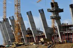 World Cup 2010 stadium. Construction underway on 2010 Cape Town world cup soccer stadium Stock Photo