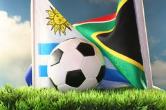 World Cup 2010 Uruguay vs South Africa Stock Photos