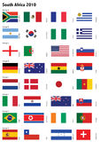 World Cup 2010 / Vector. Soccer World Cup 2010 participating countries - complete set of flags. Vector File available Royalty Free Stock Photo