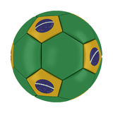 World Cup 2014 Brazil Ball. On White Background Royalty Free Stock Photo