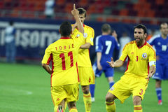 World Cup 2014 Preliminaries: Romania-Andorra Royalty Free Stock Photos
