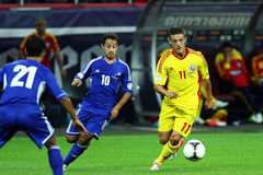 World Cup 2014 Preliminaries: Romania-Andorra Royalty Free Stock Photo