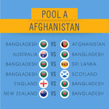 World Cup 2015, Afghanistan match schedule. Royalty Free Stock Photo