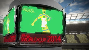 World cup 2014 animation in large stadium Stock Photos