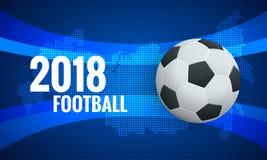 World Cup Background Template. Flyer design layout template Football 2018 world championship cup background soccer. Vector illustration Stock Images