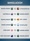 World Cup 2015 Bangladesh match schedule. Stock Photography