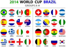 World Cup Brazil 2014 All Nations Vector Flags Stock Image