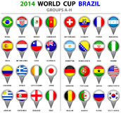 World Cup Brazil 2014 All Nations Vector Flags Royalty Free Stock Photos