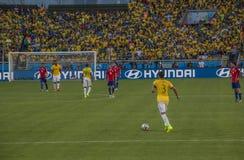 World Cup Brazil 2014 - Brazil 1 X 1 Chile Stock Photos
