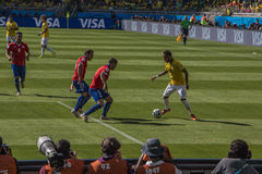 World Cup Brazil 2014 - Brazil 1 X 1 Chile Stock Photography