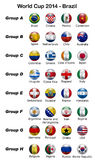 World Cup 2014 - Brazil. Digital illustration: Set of 32 flag balls representing the national teams competing for the soccer World Cup 2014 Stock Photos