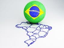 World Cup Brazil 2014. Futbol World Cup Brazil 2014, 3d illustration Royalty Free Stock Photos