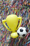 World Cup Brazil Good Luck Ball and Trophy Royalty Free Stock Photo