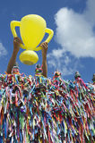 World Cup Brazil Good Luck Trophy royalty free stock images