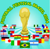 World cup Brazil 2014 participants poster. Poster of World Cup Brazil 2014 participants, 100% vector Stock Photos