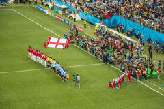 World Cup Brazil 2014 - Uruguay 2 X 1 England Royalty Free Stock Image