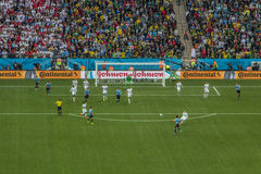 World Cup Brazil 2014 - Uruguay 2 X 1 England Royalty Free Stock Photo