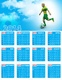 World cup calendar. In white background stock illustration
