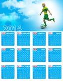World cup calendar Royalty Free Stock Photo