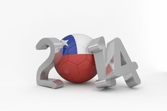 World cup 2014 for chile. On white background Royalty Free Stock Images