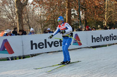 World Cup cross-country ski Royalty Free Stock Photo