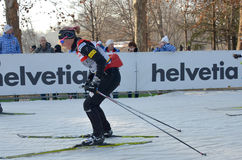 World Cup cross-country ski Royalty Free Stock Images