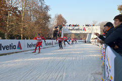 World Cup cross-country ski Stock Images