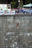 World Cup of diving from great heights. Todor Spasov (Bulgaria)  at the World Cup of diving from great heights - Valmalenco  - Lanzada (Sondrio) - Italy - 13 Stock Photos