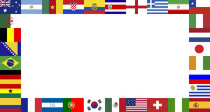 World Cup Final 2014 flags frame Royalty Free Stock Photography