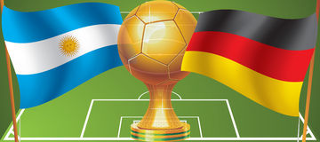 World Cup final 2014. World Cup final in 2014 Argentina Germany Stock Illustration