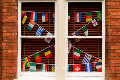 World Cup Football Flags  Stock Images