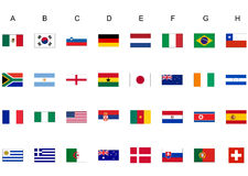 World cup flags. Flags of nations in the Football soccer world cup Stock Photography