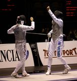 World Cup Foil Women Senior 2009, Fencing Stock Photo