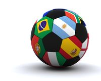 World cup football 2010. 3D render of world cup football 2010 Stock Photography